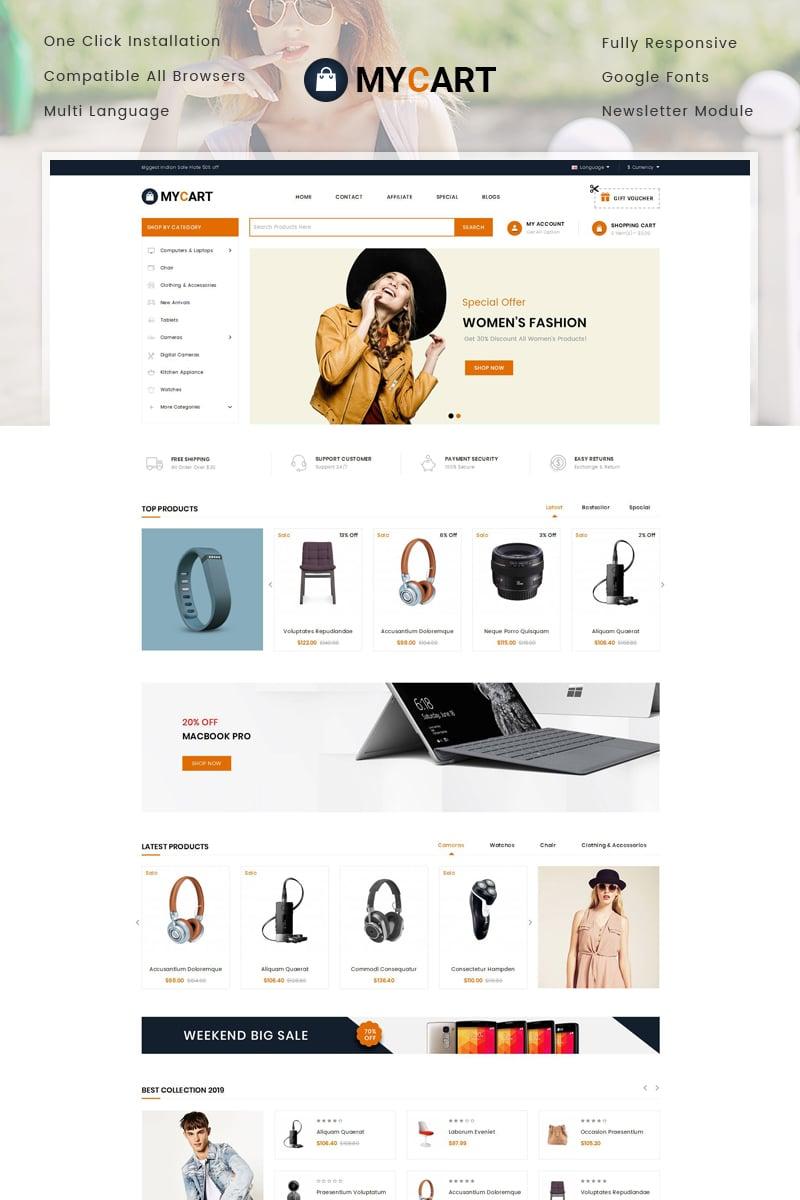 Responsive MyCart - Multipurpose Store Opencart #78275