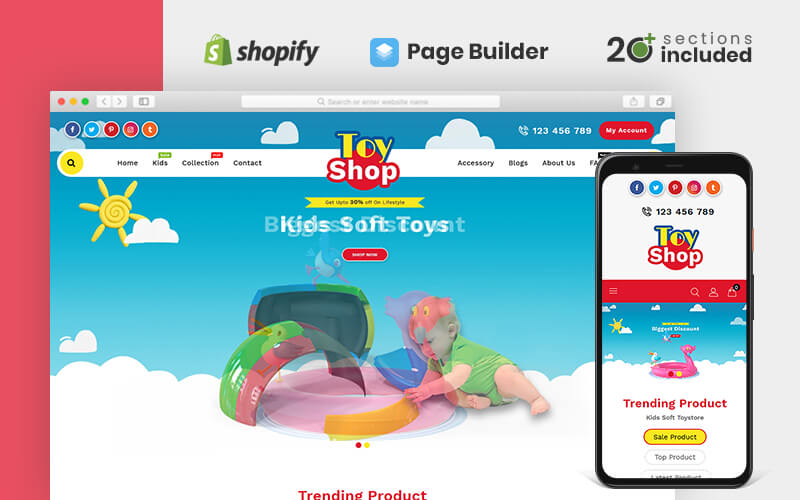 "Shopify Theme namens ""Toytown"" #78278"
