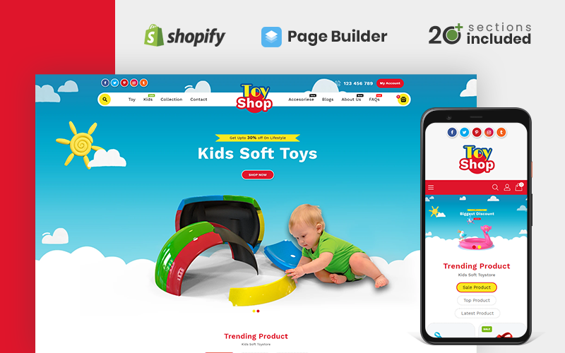 "Tema Shopify ""Toytown"" #78278"