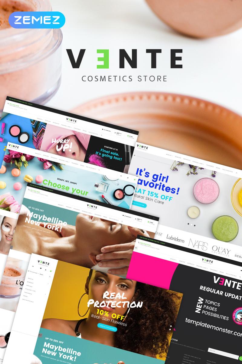 Vente - Cosmetics Store Clean Bootstrap Ecommerce Tema PrestaShop №78294