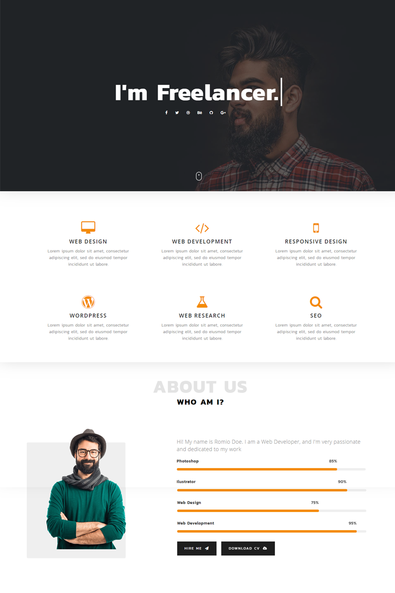Romio - Personal Landing Page Template