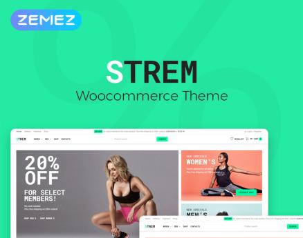 Strem - Sports Store ECommerce Minimal Elementor WooCommerce Theme