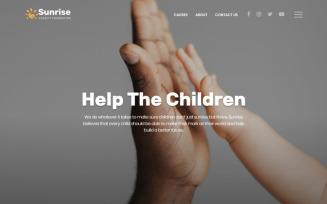 Sunrise - Charity Foundation Modern HTML5 Landing Page Template