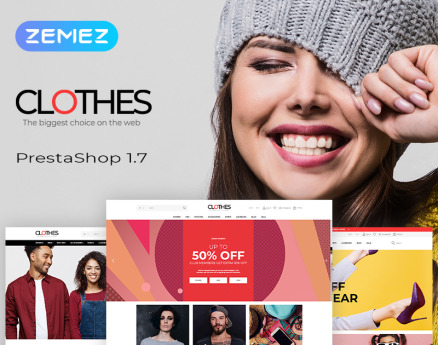 Clothes - Brand Apparel Store Clean Bootstrap Ecommerce PrestaShop Theme