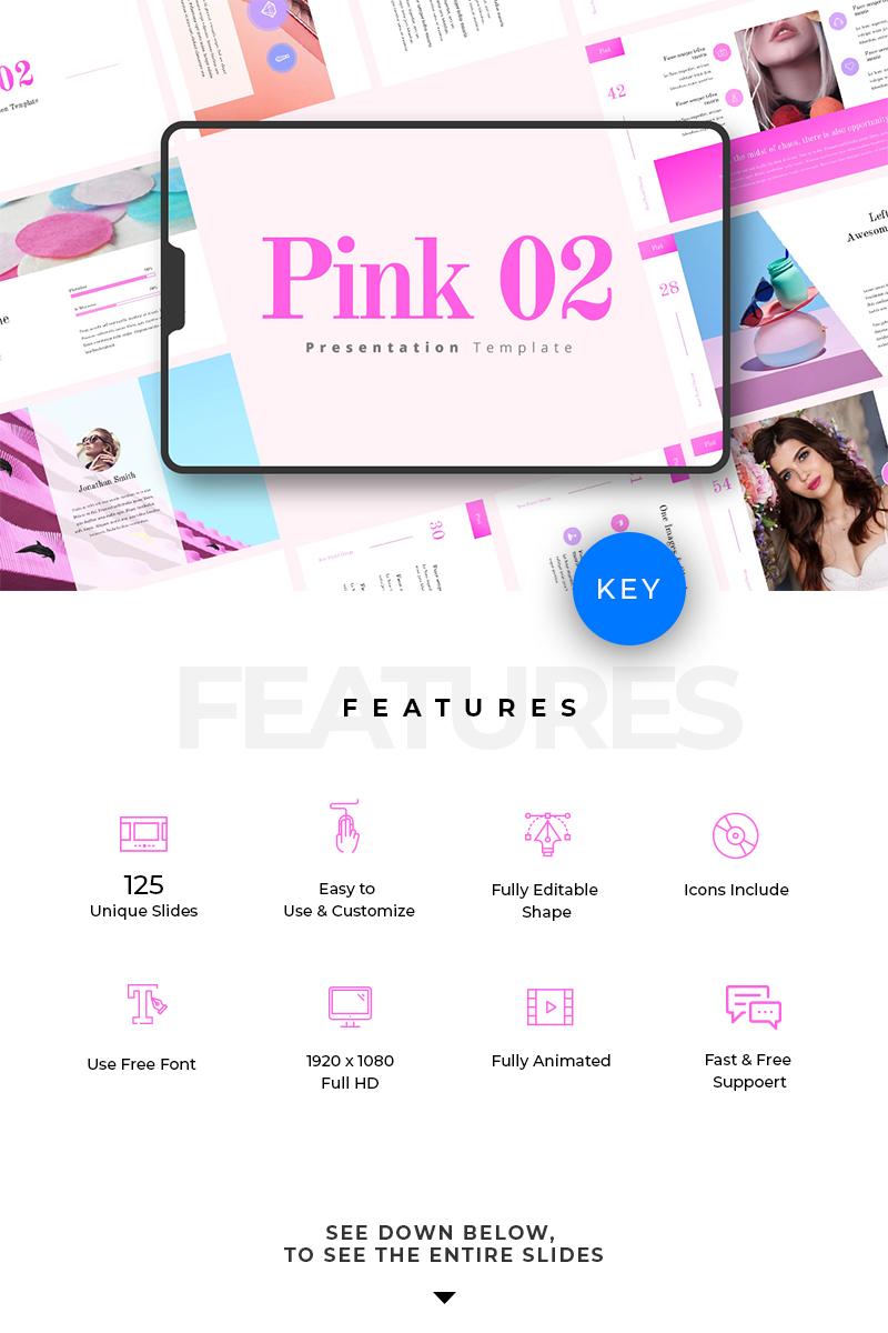 """""""Pink 02"""" Keynote模板 #78301"""