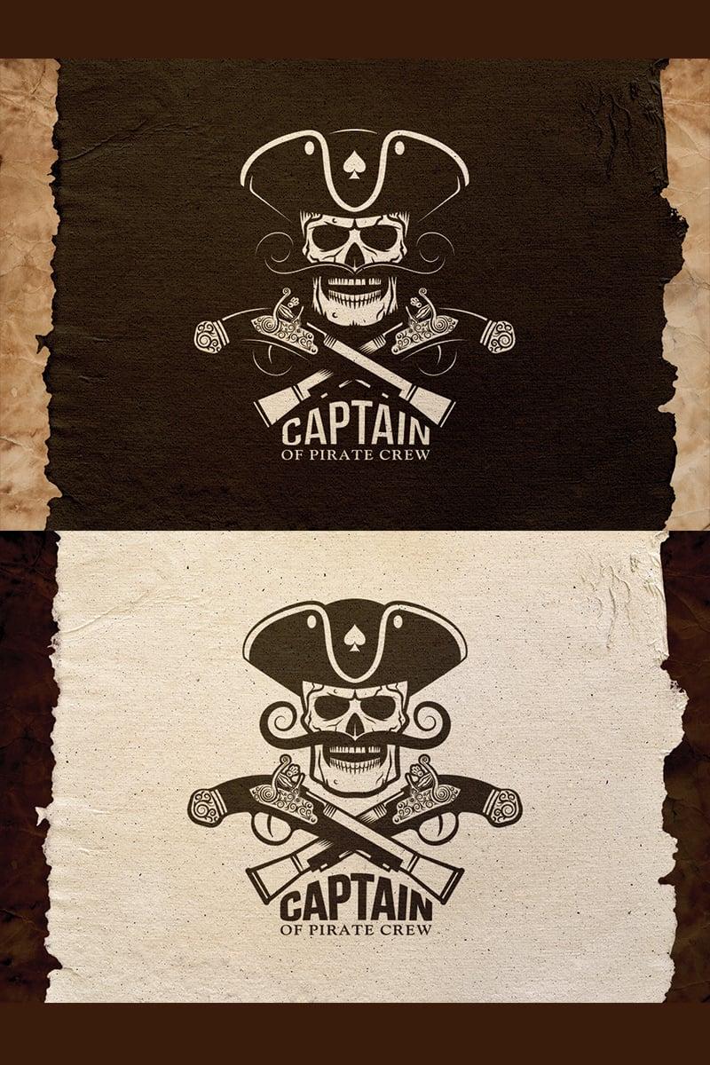 Pirate Captain Emblem Illustration