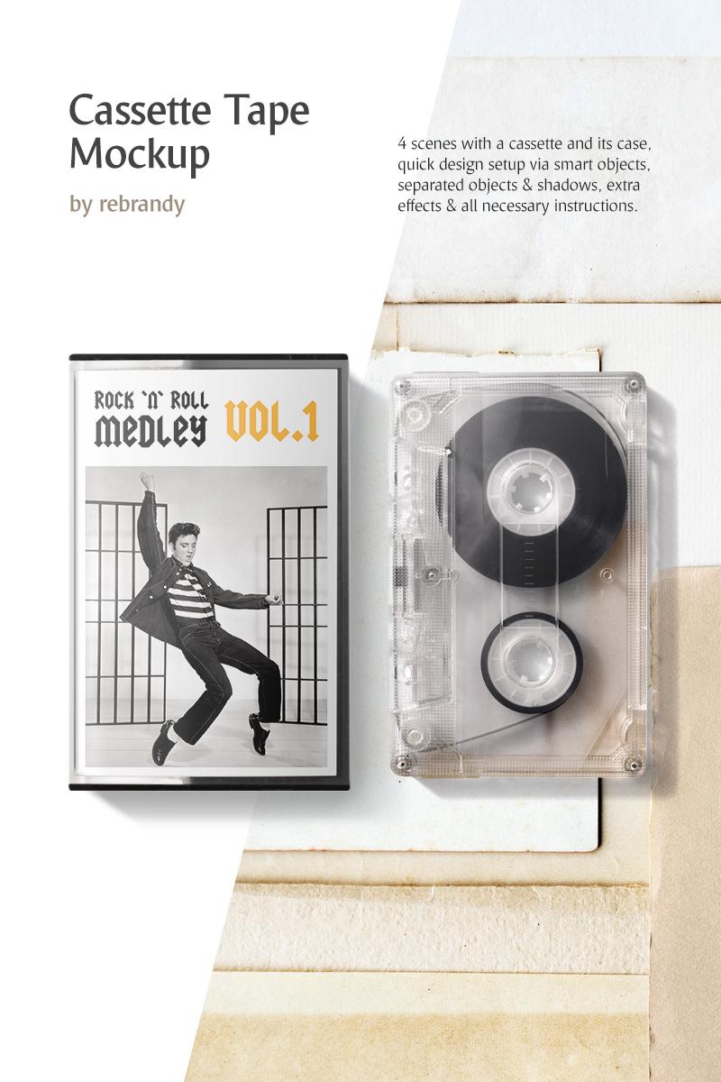 """Produktmodell namens """"Cassette Tape Mockup"""" #78386 - Screenshot"""