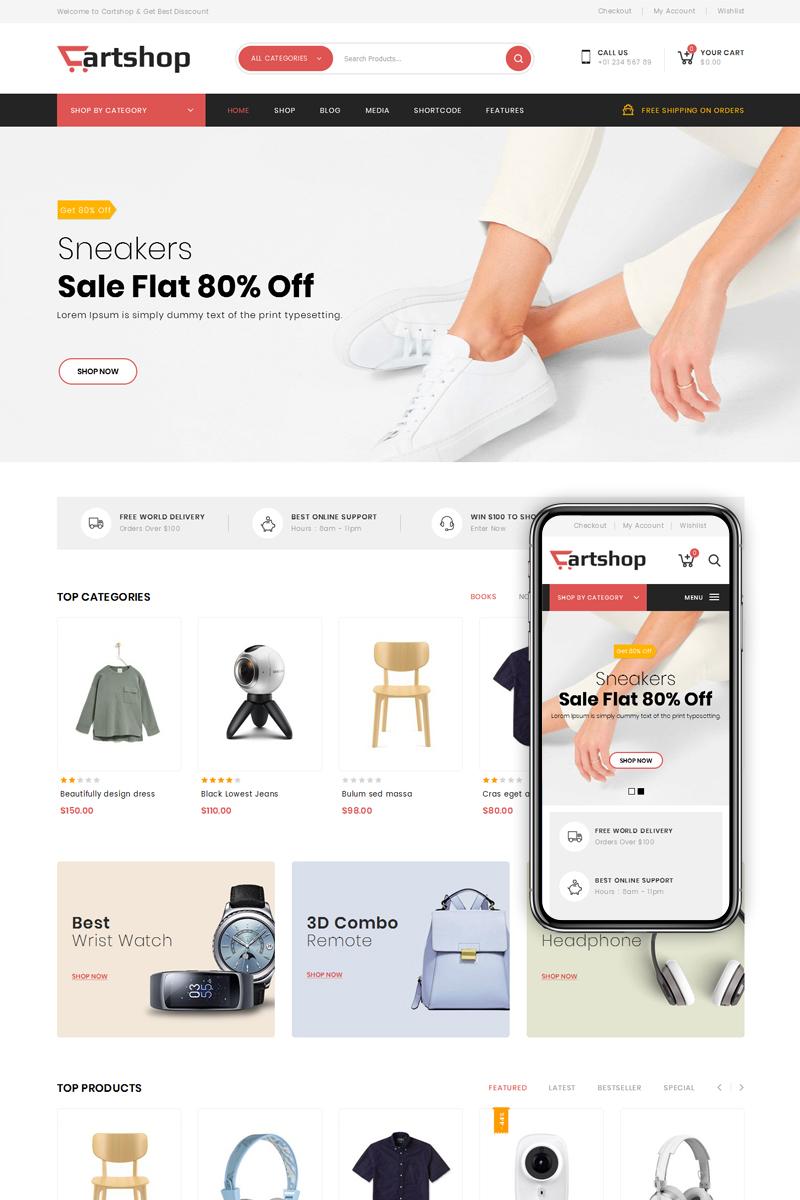Responsywny motyw WooCommerce CartShop - Multipurpose Store #78377