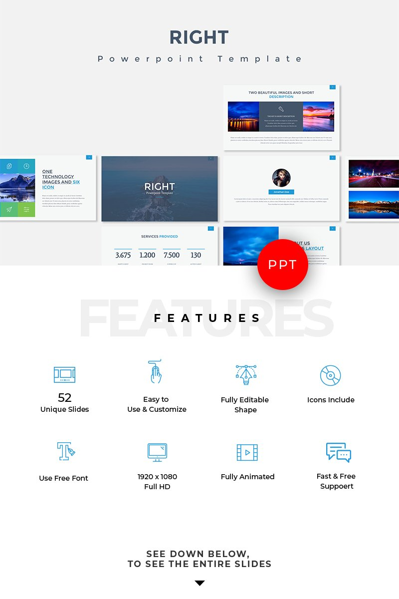 Right PowerPoint Template - screenshot