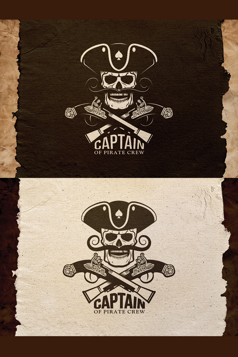 "Tema Illustrazione #78369 ""Pirate Captain Emblem"""