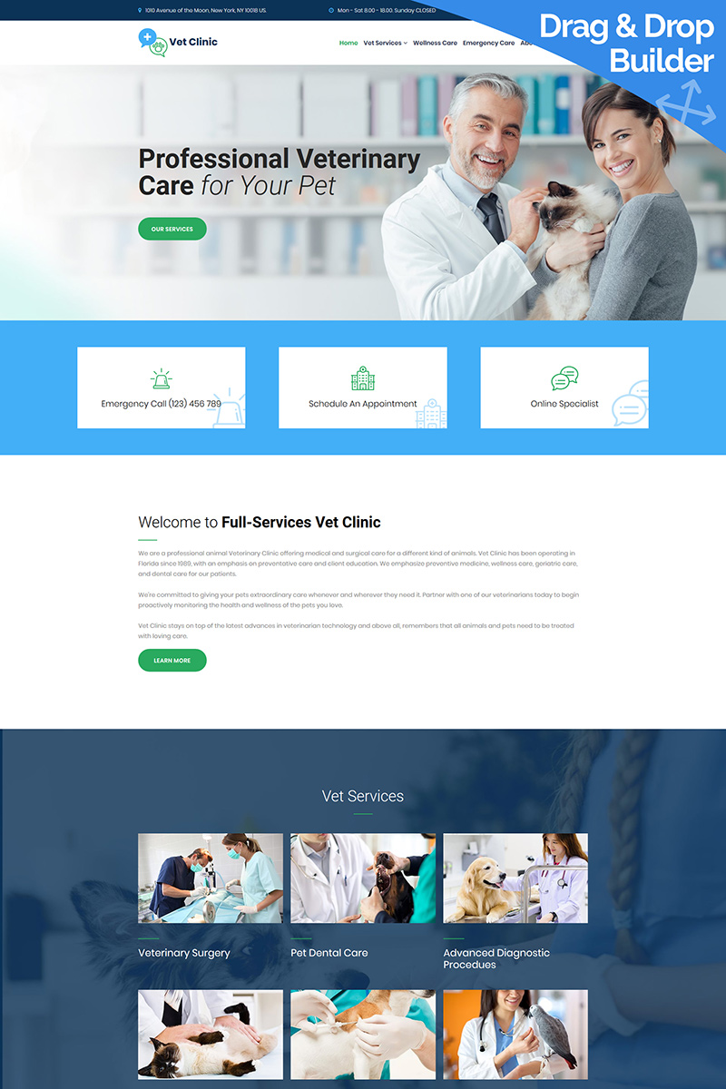 Vet Clinic - Veterinary Moto CMS 3 Template