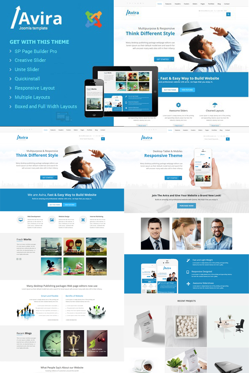 Template 78482 : Avira - Responsive Multipurpose With Page