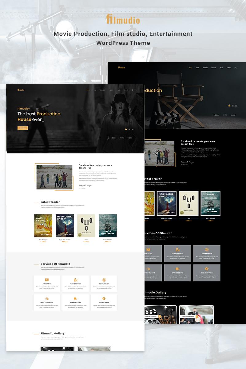 """Filmudio - Movie Production, Film studio, Creative & Entertainment"" 响应式WordPress模板 #78401"
