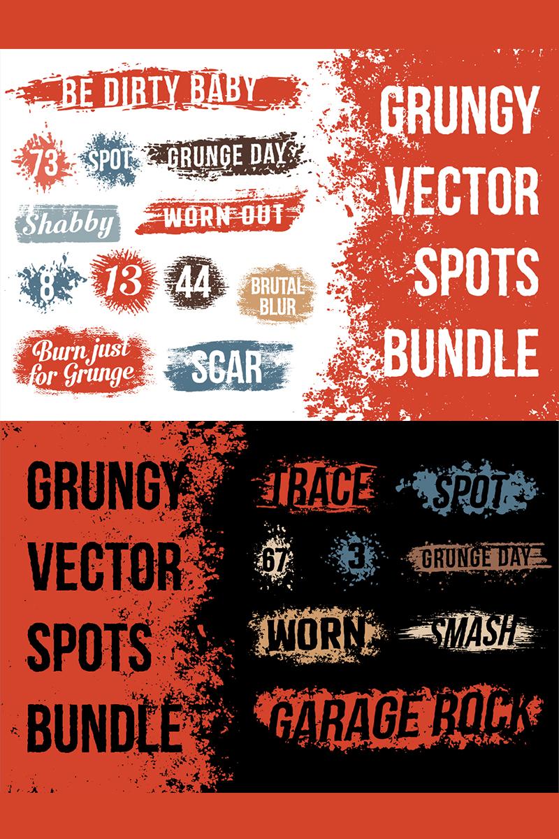 """""""Grunge Spot Bundle"""" illustration  #78420"""