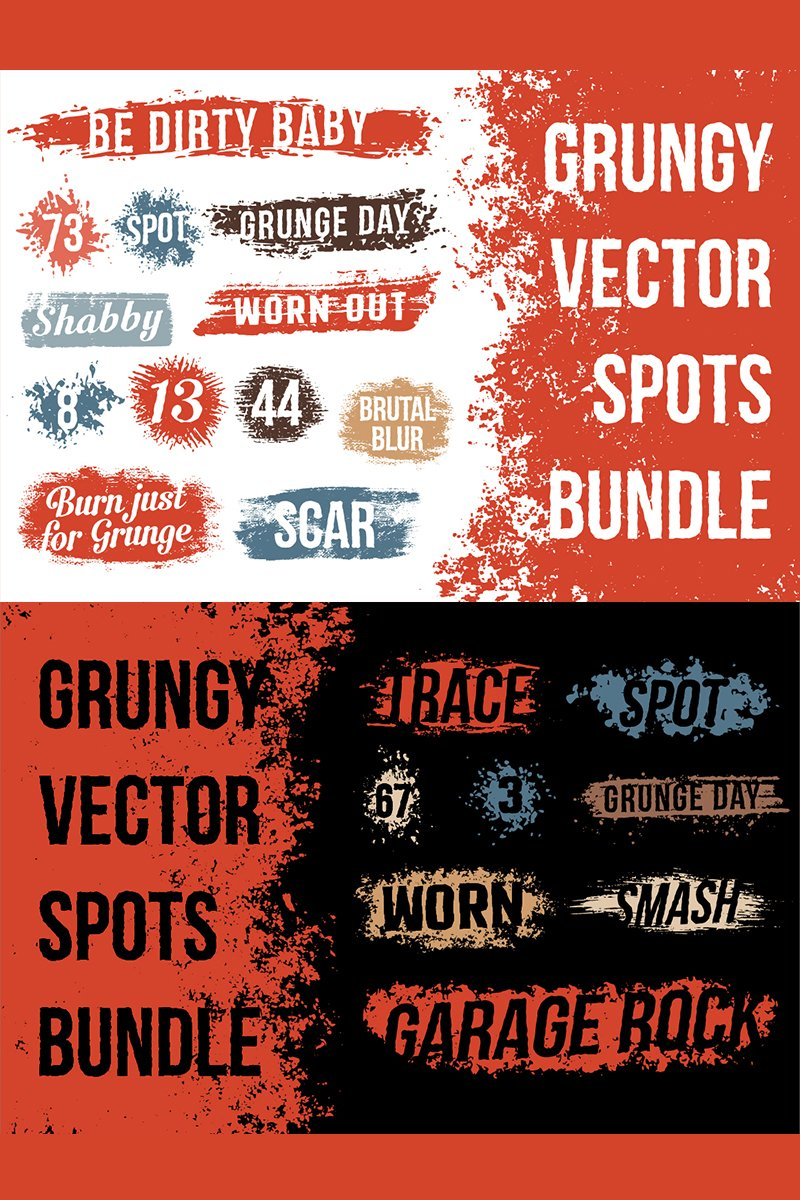 """Grunge Spot Bundle"" Illustration №78420"