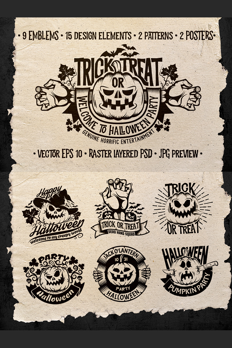 Halloween Logo Pack Illustration - screenshot