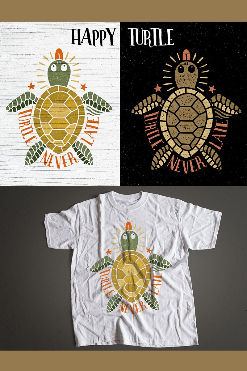 "Ilustración ""Happy Turtle"" #78415"