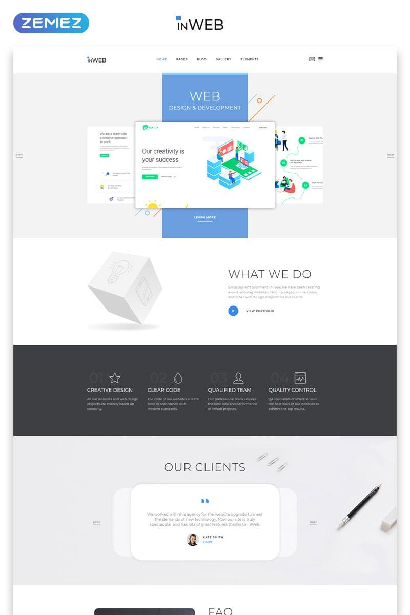 InWeb - Web Development Studio Clean Multipage HTML5 №78469