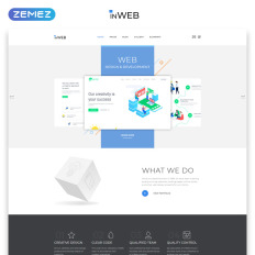 Inweb Web Development Studio Clean Multipage Html5 Website Template For Practice