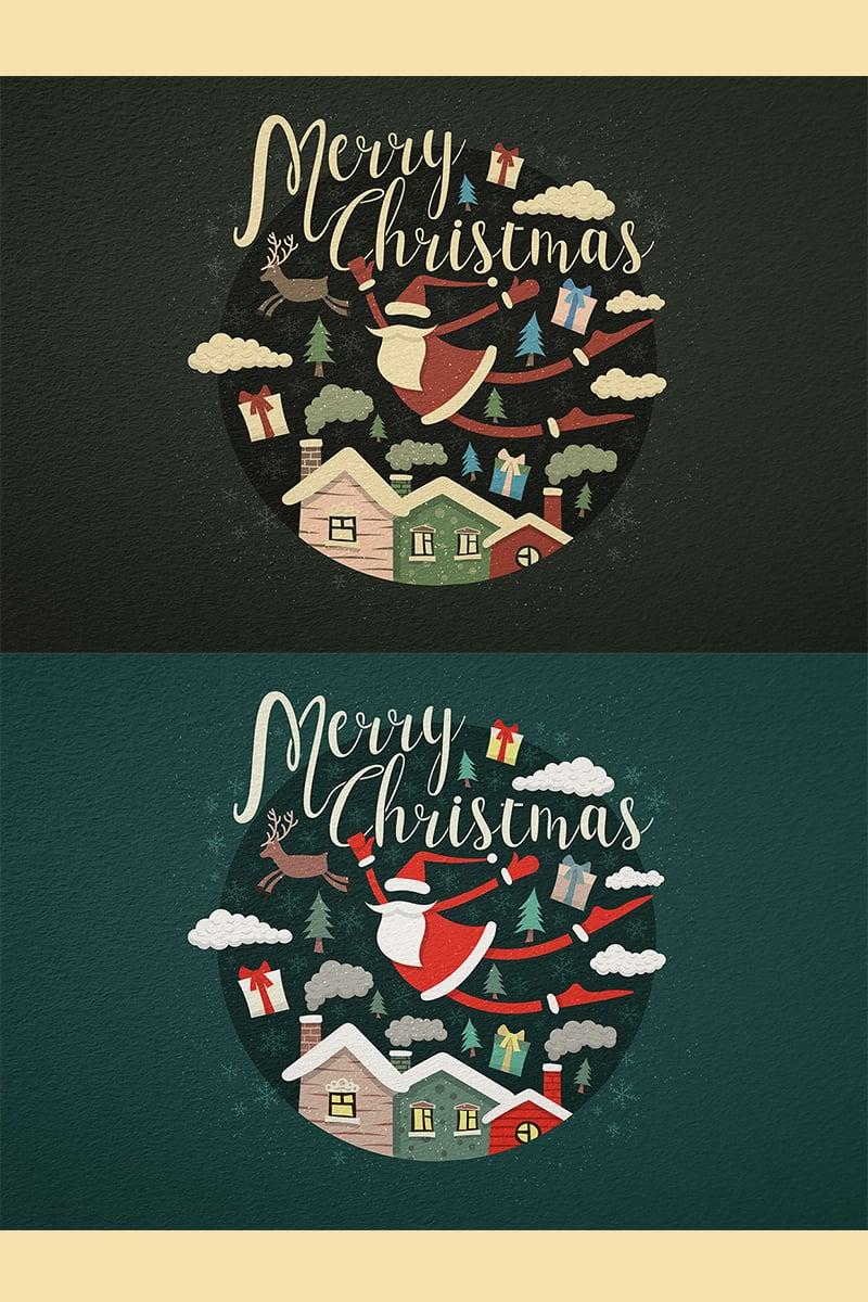 """Merry Christmas"" illustration  #78413"