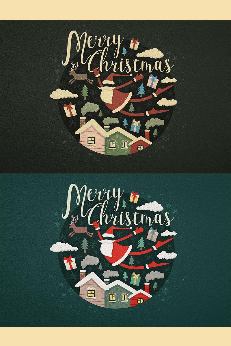 """Modello Illustrazione #78413 """"Merry Christmas"""""""