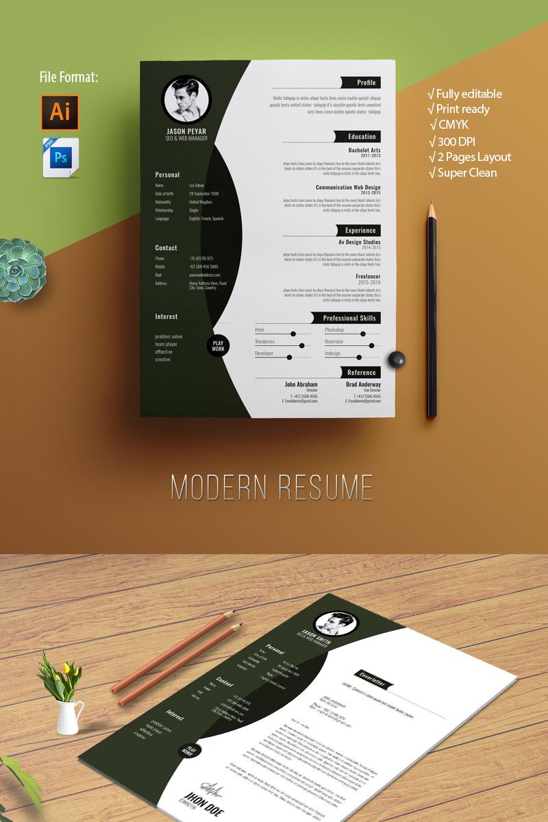 Modern Resume Template - screenshot