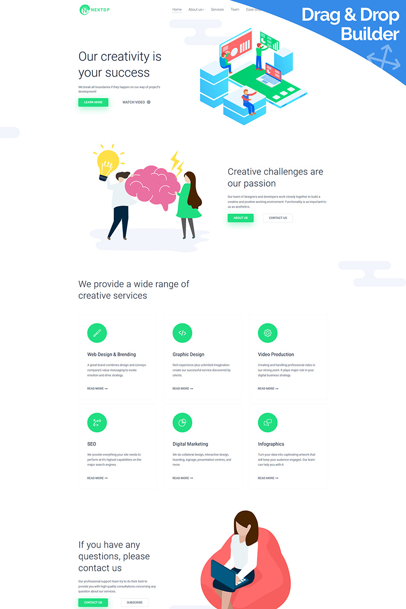 Responsive Nektop - Design Studio Moto Cms 3 #78459