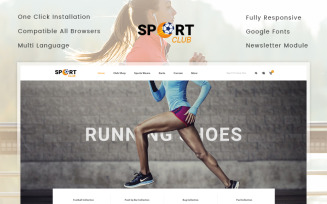 Sport Club - Accessories Store OpenCart Template