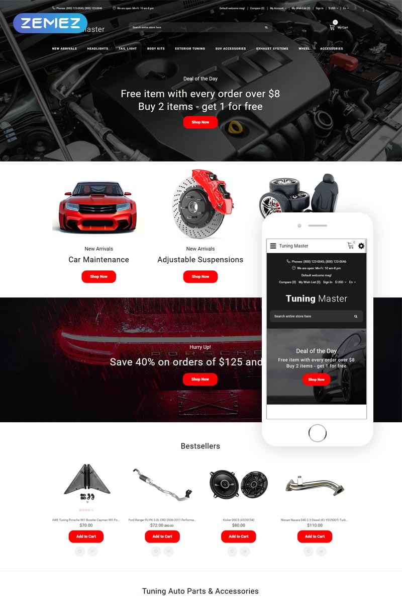 Tuning Master - Car Tuning Modern OpenCart Template