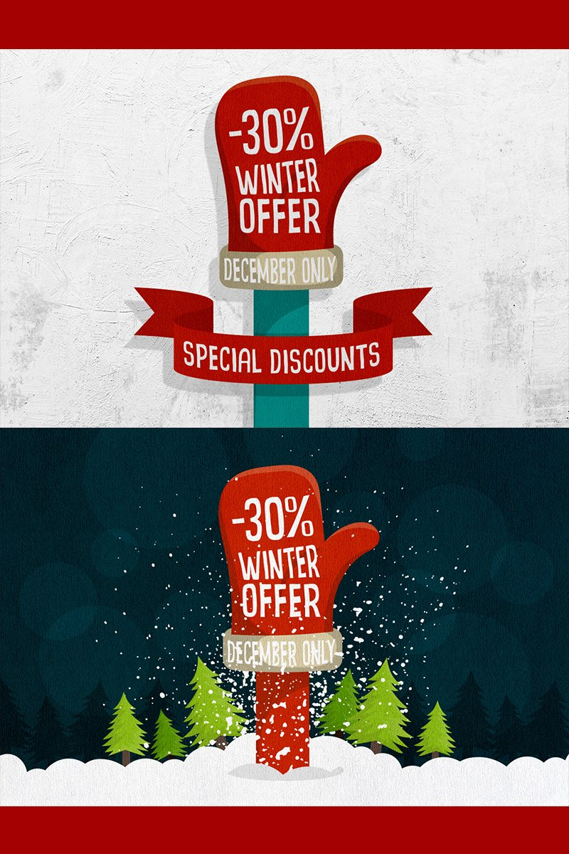 """Winter Offer"" illustration  #78410"