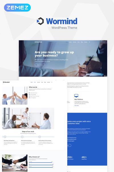 Responsives WordPress Theme für Business Services