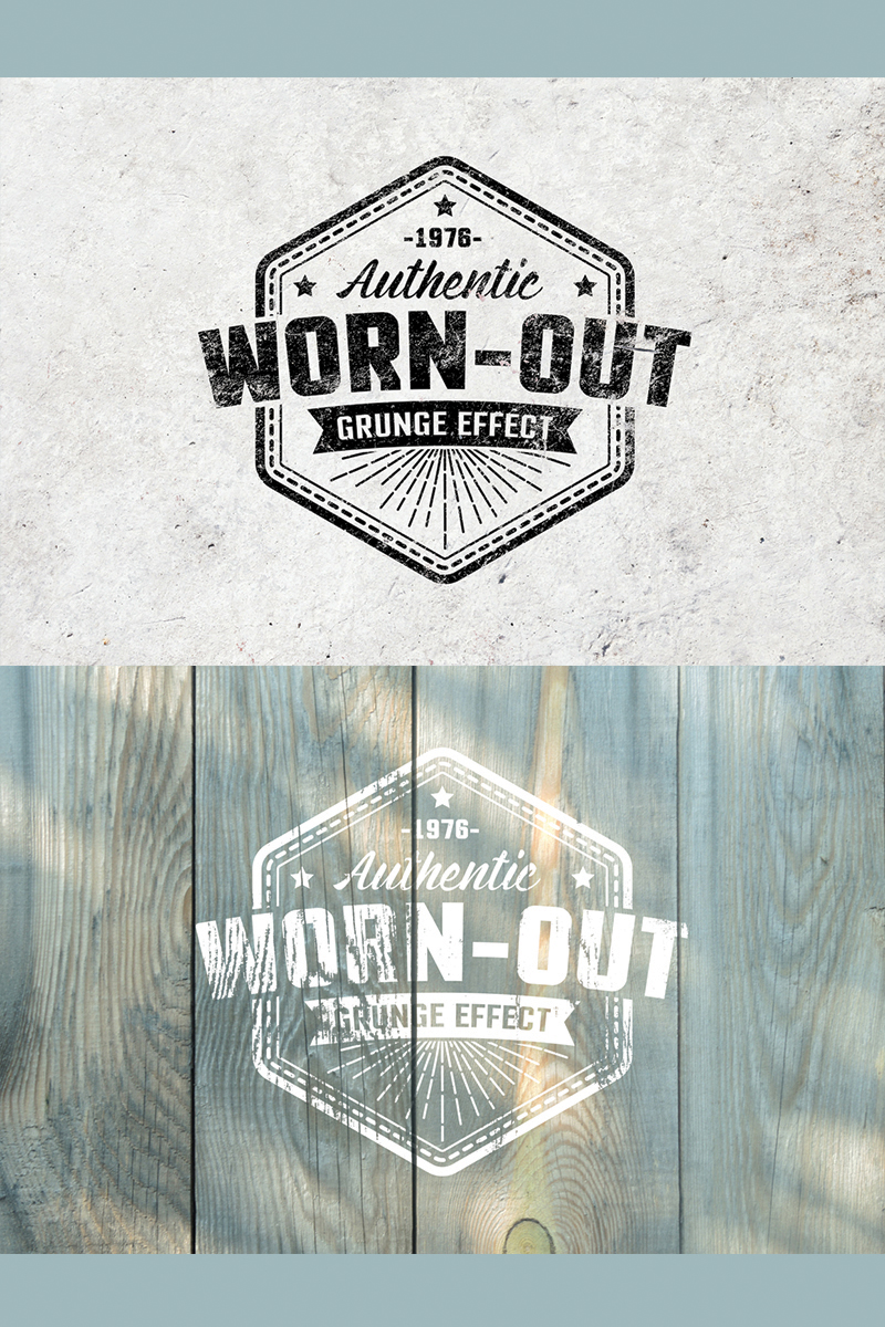 """Worn Out Grunge Mockup Set"" Illustration №78424"
