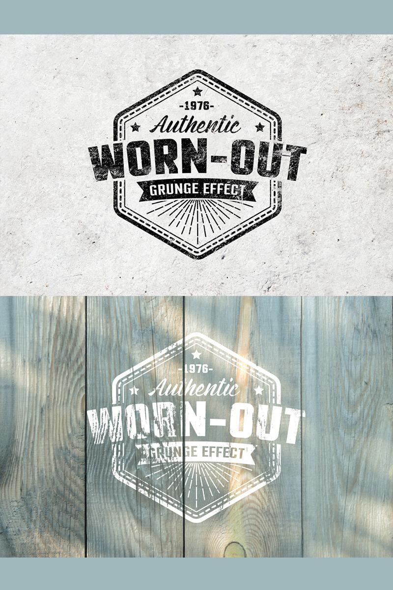 Worn Out Grunge Mockup Set Illustration