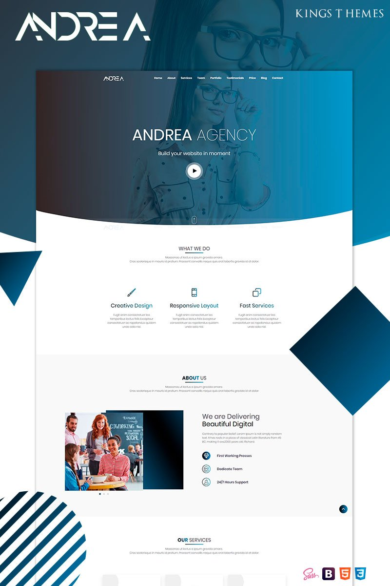 Andrea Agency Landing Page Template - screenshot