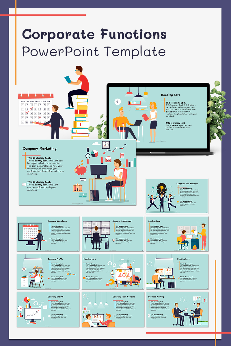 """Corporate Functions"" PowerPoint Template №78567"