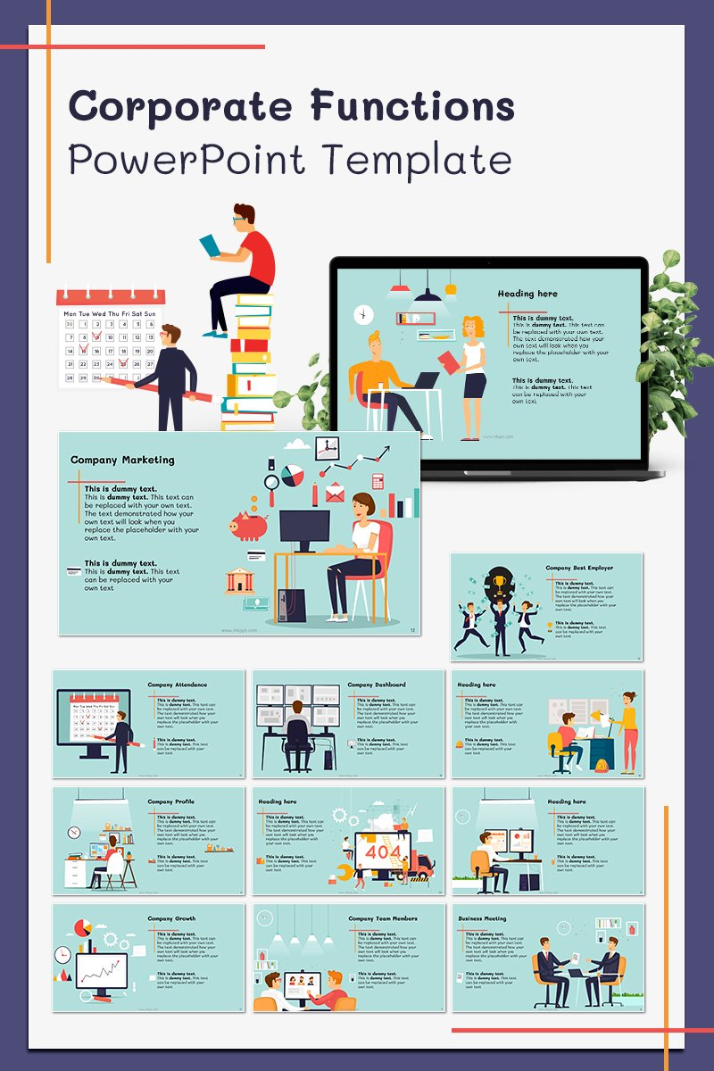 Corporate Functions Template PowerPoint №78567