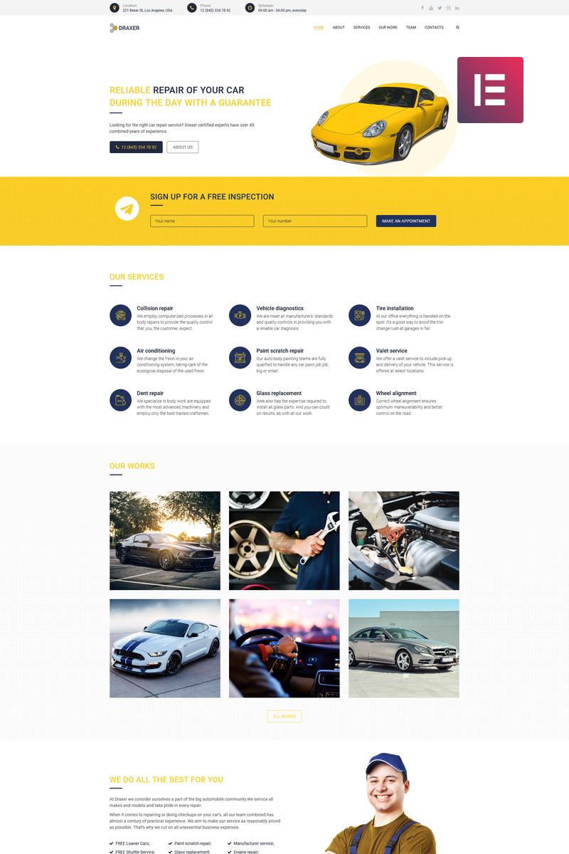 Draxer - Car Repair Multipurpose Minimal Elementor №78526