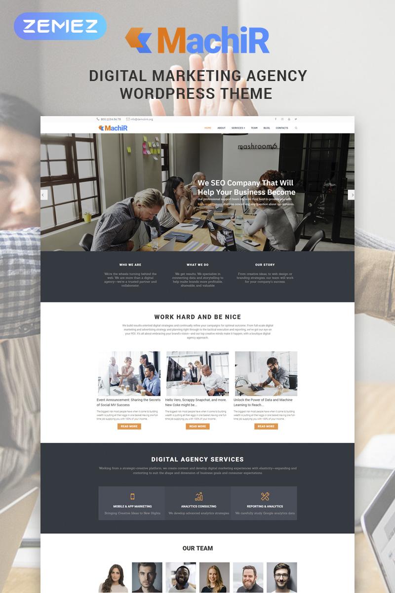 """Machir - Digital Marketing Agency Multipurpose Modern Elementor"" Responsive WordPress thema №78546"