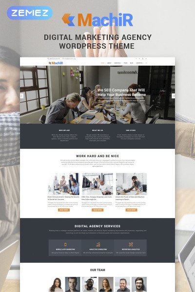 Machir - Digital Marketing Agency Multipurpose Modern Elementor