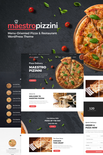 MaestroPizzini - Pizza & Restaurant Menu-Oriented