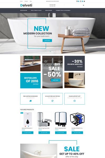 Responsive MotoCMS E-Commerce Vorlage für Klempnerei