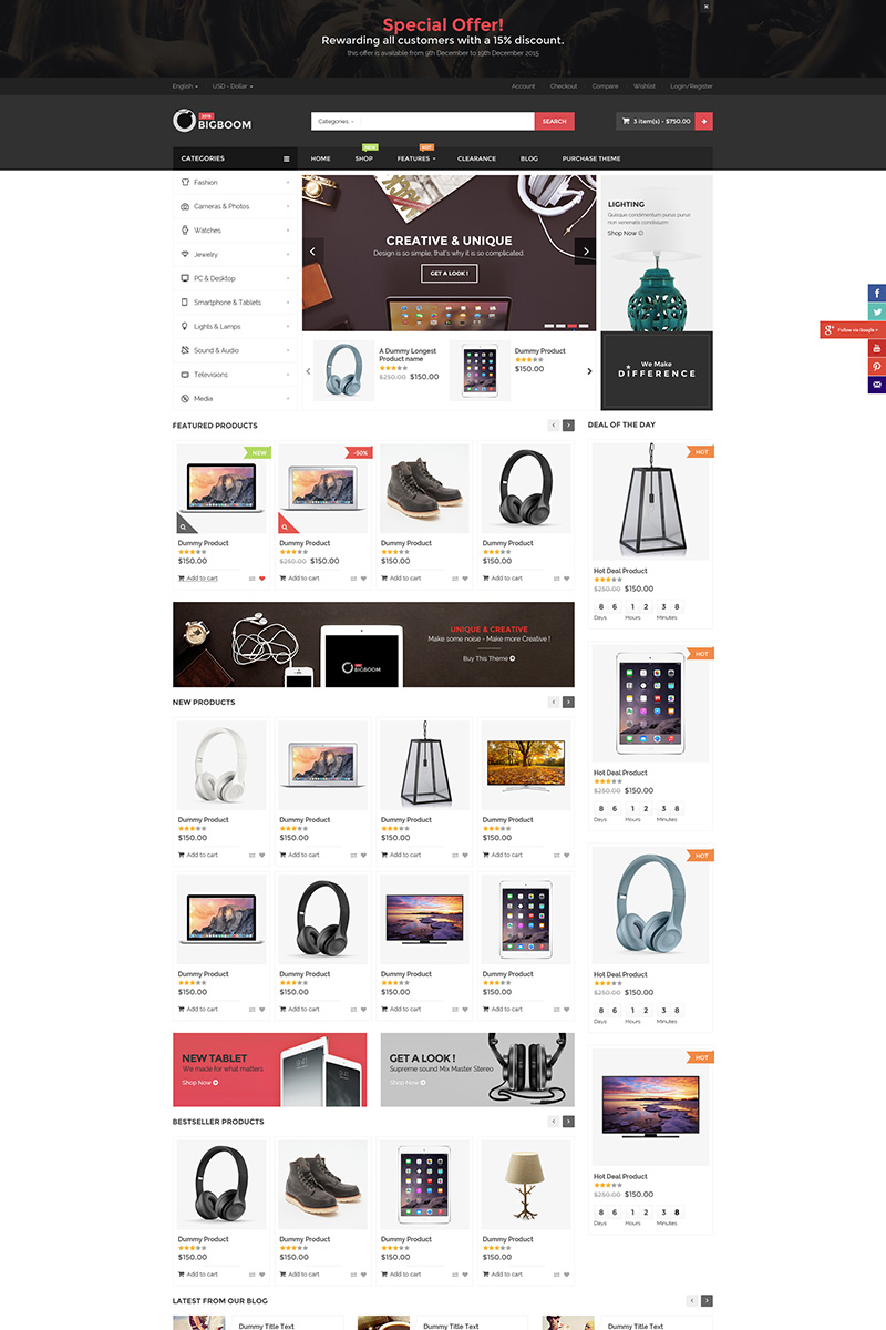 Responsive BigBoom Woocommerce #78522