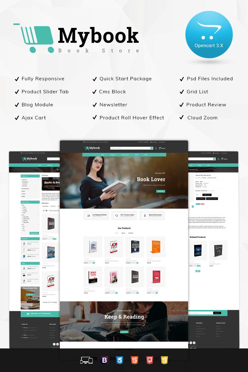 Responsive Mybook Book Store Opencart #78527