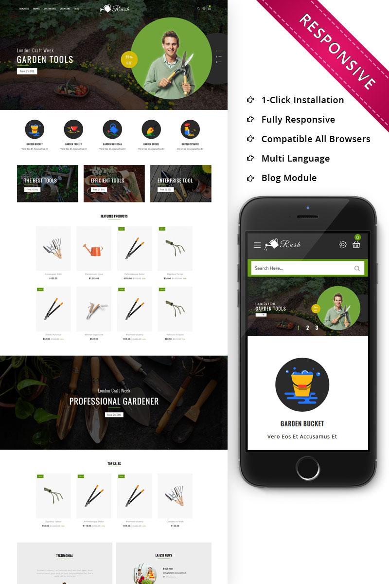 Responsywny szablon OpenCart Rush - The Gardening Tools #78585