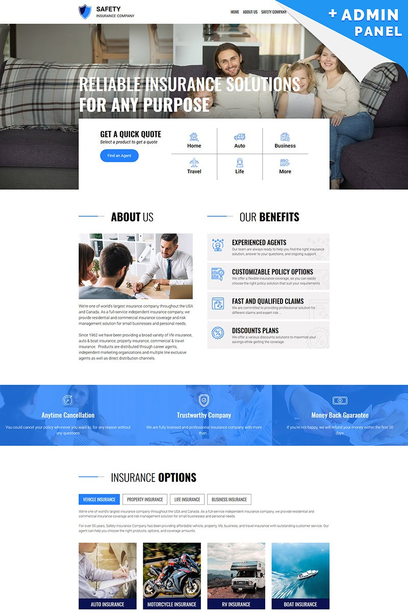 Safety - Insurance Landing Page Template