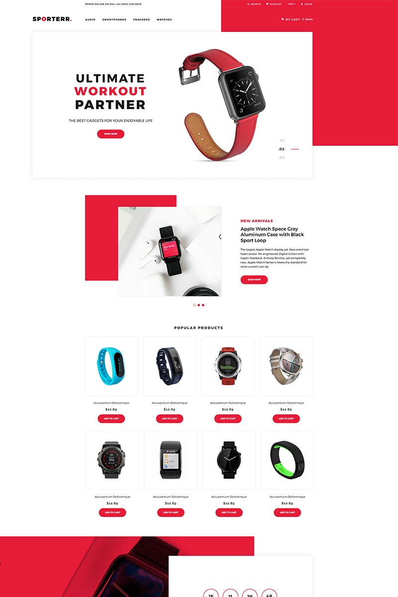 Sporterr - Sports Store Clean Tema de Shopify №78532