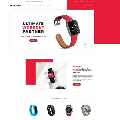 Thème Shopify adaptatif  pour boutique de sport