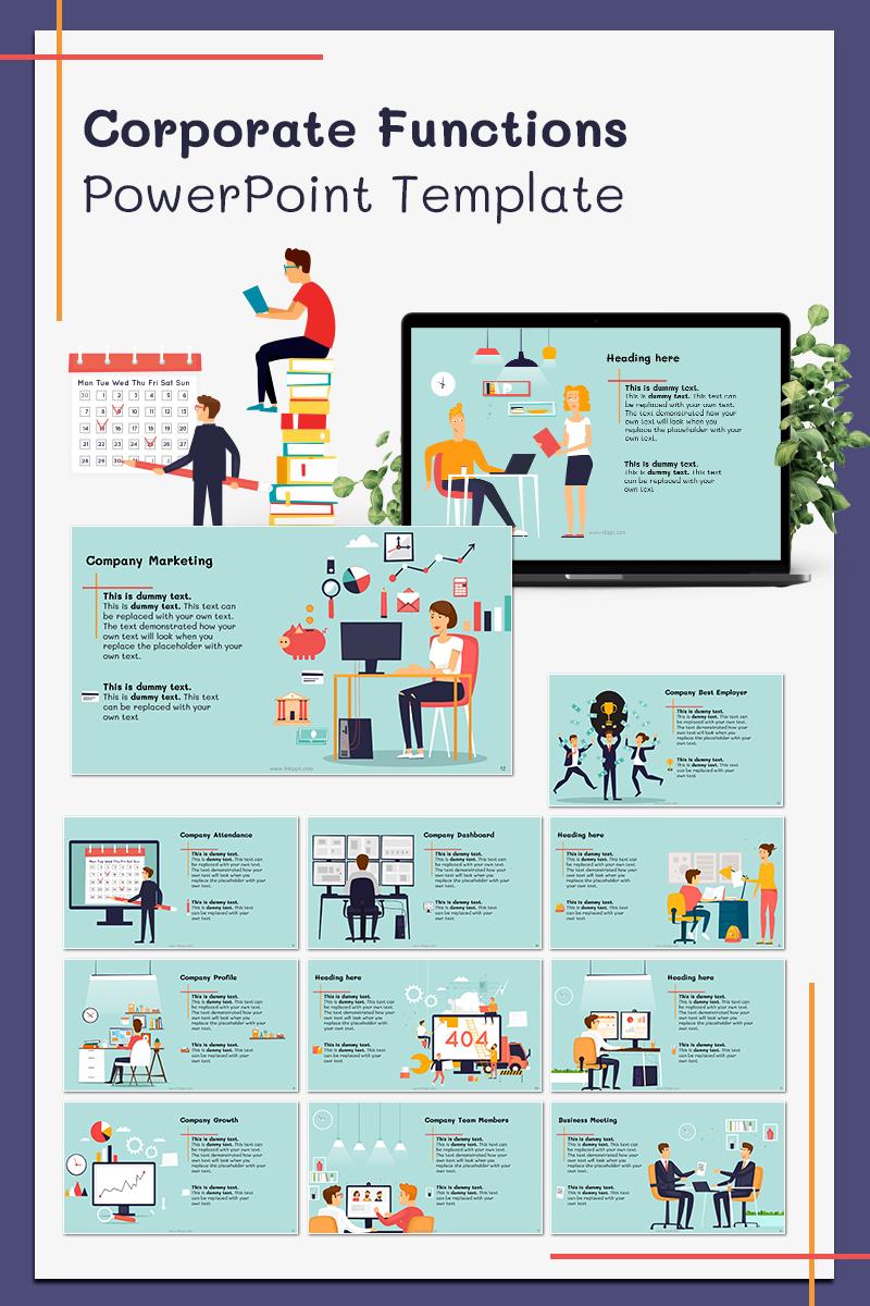 "Tema PowerPoint #78567 ""Corporate Functions"" - screenshot"