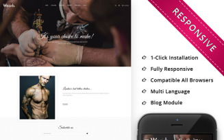 Wearb Tattoo Store - Responsive OpenCart Template