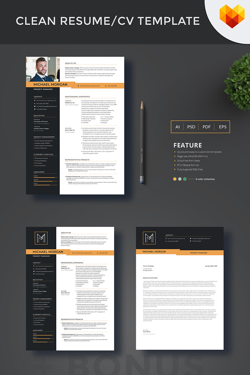 Michael Morgan - Project Manager Resume Template